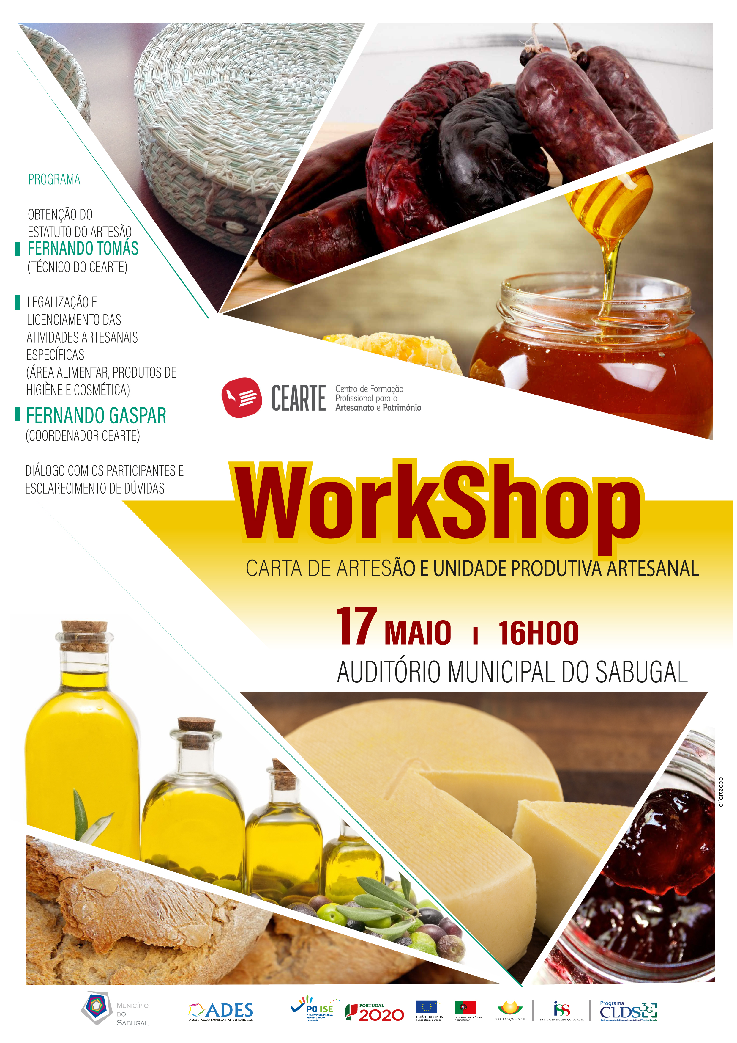 cartaz workshop artesanato