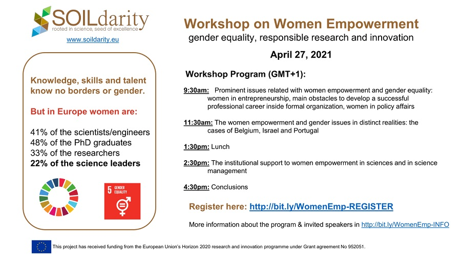 Cartaz workshop Women Empowerment SOILdarity